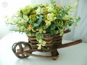 Flores de plastico para decoração