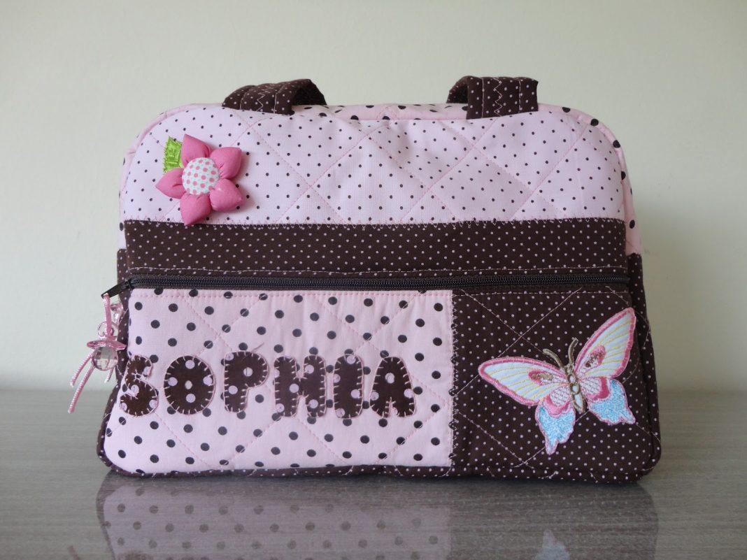 bolsa personalizada com estampa de tecido