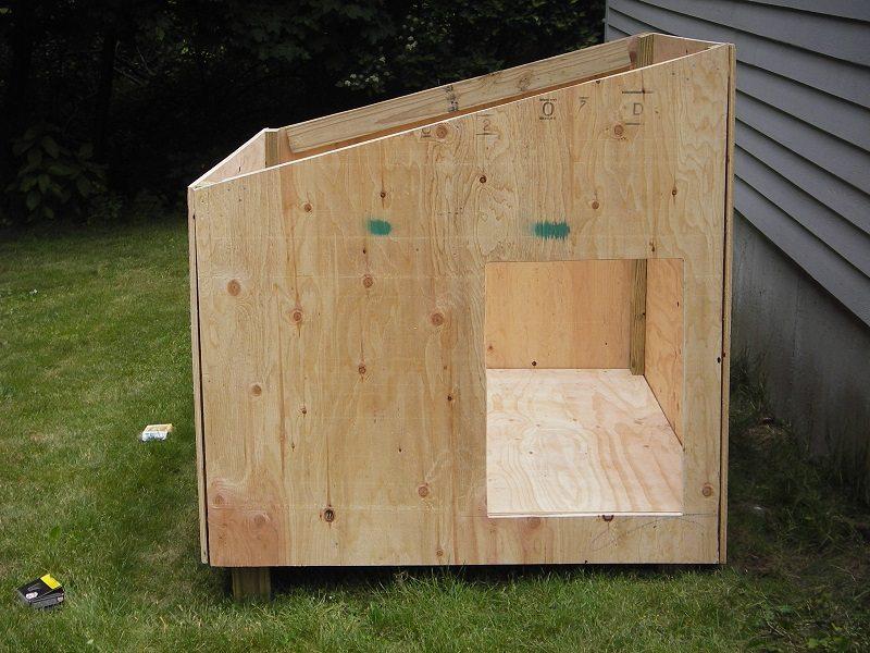 Como fazer casinha de cachorro em 6 passos simples for Lean to dog house plans
