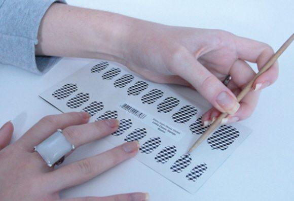como fazer adesivos de unhas com impressora