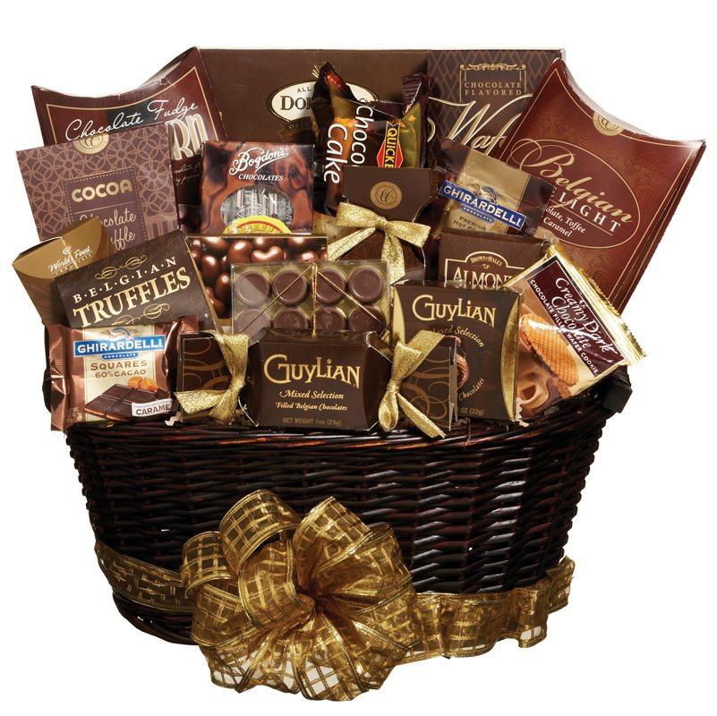 cesta de chocolate cara